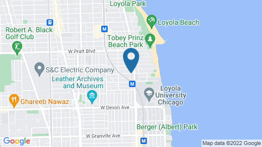 Hampton Inn Chicago North Loyola Station Map