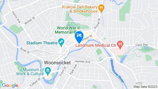 Woonsocket Motor Inn Map