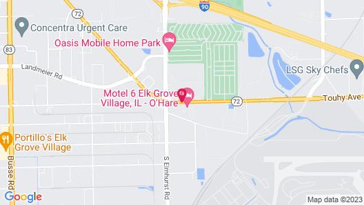 Motel 6 Elk Grove Village, IL - O'Hare Map