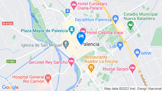Hostal Alda Palencia Plaza Map