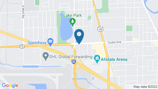Extended Stay America Suites Chicago O'Hare Map