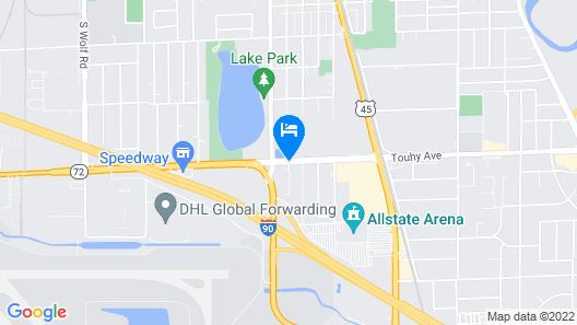Extended Stay America - Chicago- O'Hare - Allstate Arena Map