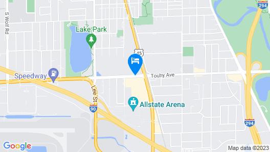 Wyndham Chicago O'Hare Map