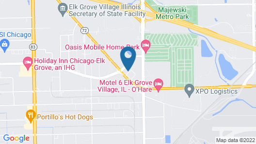 InTown Suites Extended Stay Chicago IL - Elk Grove Map