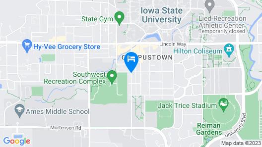 Iowa House Historic Inn near Campus Map