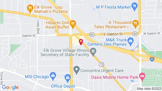 Howard Johnson Hotel & Suites by Wyndham Elk Grove Village Map