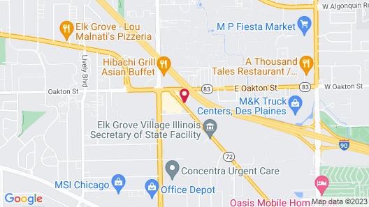 Days Inn by Wyndham Elk Grove Village O'Hare Airport West Map