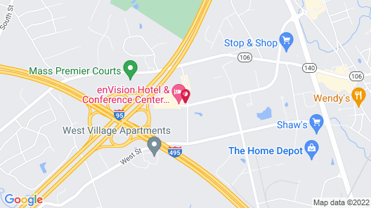 Holiday Inn Mansfield-Foxboro Area, an IHG Hotel Map