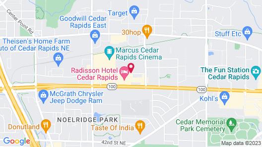 Homewood Suites by Hilton Cedar Rapids-North Map