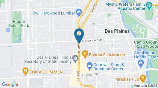 Best Western Des Plaines Inn Map