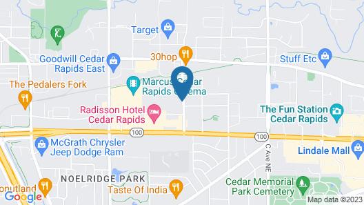 Mainstay Suites Cedar Rapids Map