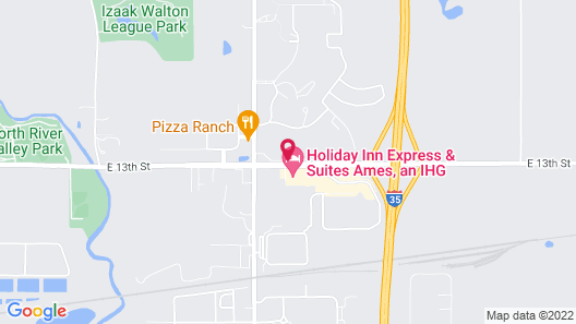 Quality Inn & Suites Ames Conference Center Near ISU Campus Map