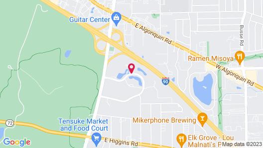 Sheraton Suites Chicago Elk Grove Map