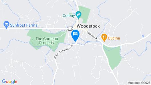 The Woodstock Inn on the Millstream Map