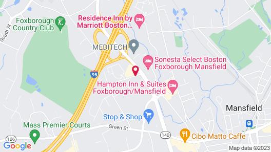 Comfort Inn Foxboro – Mansfield Map