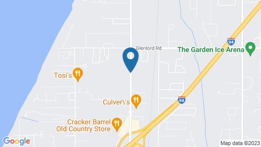 Super 8 by Wyndham Stevensville Map