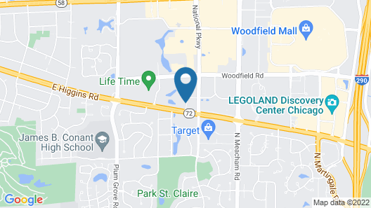 Four Points by Sheraton Chicago Schaumburg Map