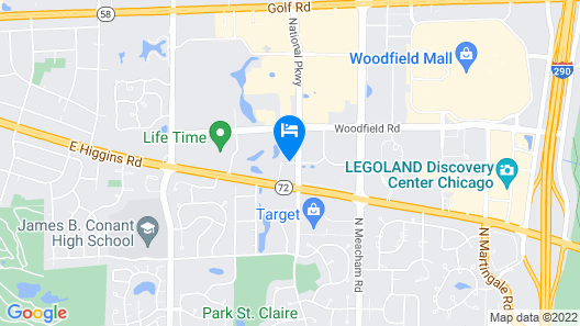 TownePlace Suites by Marriott Chicago Schaumburg Map