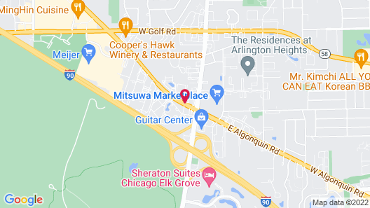 Red Roof Inn Chicago-O'Hare Airport/Arlington Heights Map