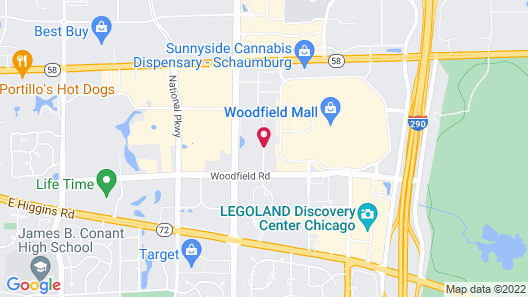 Hampton Inn & Suites Chicago Schaumburg Map