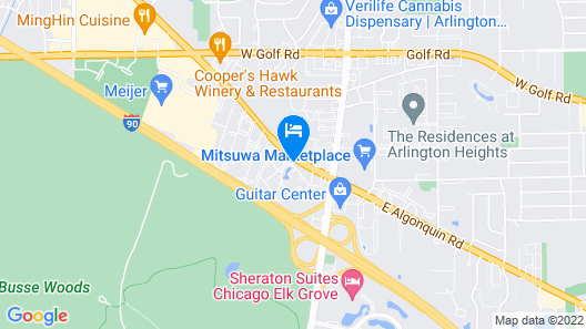 DoubleTree by Hilton Chicago - Arlington Heights Map