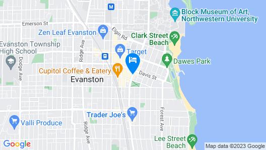 Hyatt House Chicago/Evanston Map