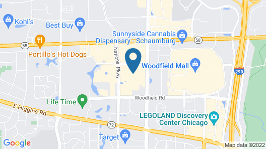 Courtyard by Marriott Chicago Schaumburg/Woodfield Mall Map