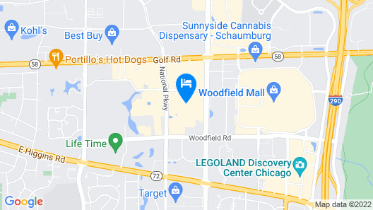 Courtyard by Marriott Chicago Schaumburg/Woodfield Mall Map