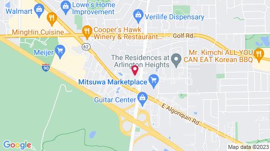Comfort Inn Arlington Heights-OHare Airport Map