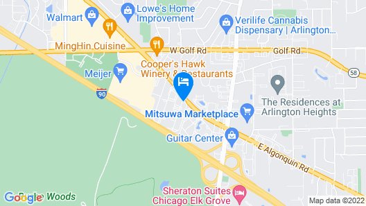 Motel 6 Arlington Heights, IL - Chicago North Central Map