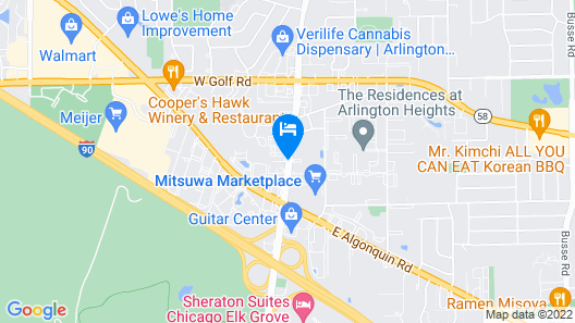 Wingate by Wyndham Arlington Heights Map