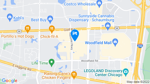 HYATT house Chicago/Schaumburg Map