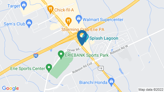 Holiday Inn Express Hotel & Suites Erie (Summit Township) Map