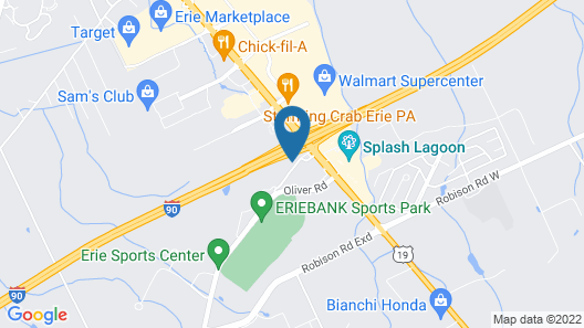 Hampton Inn Erie-South I-90/I-79 Map