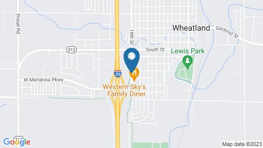 Motel 6 Wheatland, WY Map