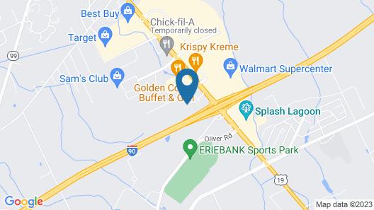 Hilton Garden Inn Erie Map