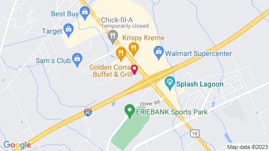 Courtyard by Marriott Erie Map