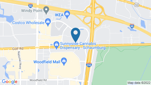 Hyatt Regency Schaumburg Chicago Map