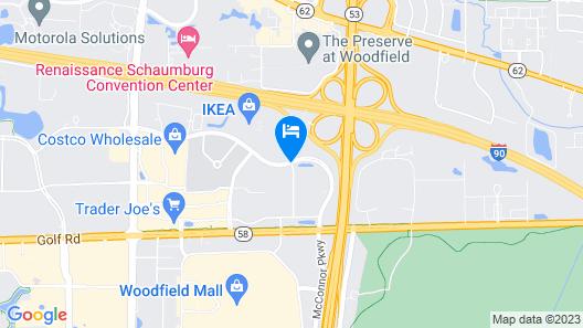 Hyatt Place Chicago/ Schaumburg Map