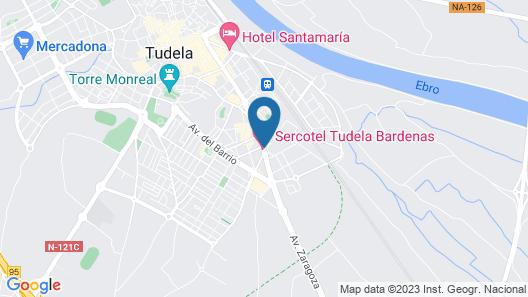 Tudela Bardenas Map