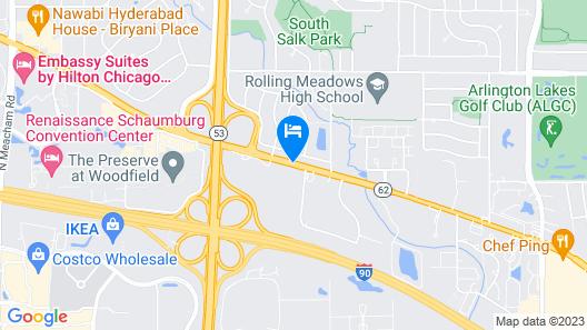 Holiday Inn Express Rolling Meadows - Schaumburg Area Map