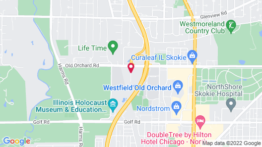 Extended Stay America Suites Chicago Skokie Map
