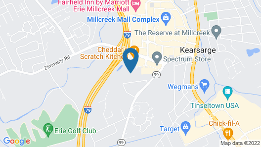 Springhill Suites by Marriott Erie Map