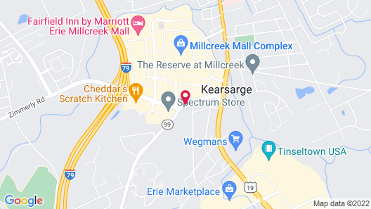 Candlewood Suites Erie, an IHG Hotel Map