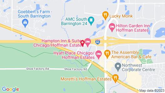 MainStay Suites Chicago Hoffman Estates Map
