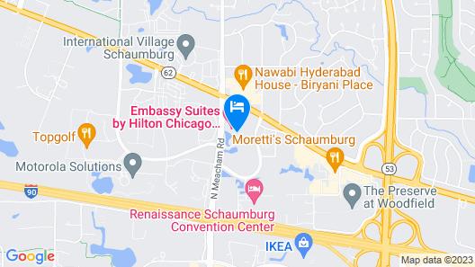 Embassy Suites Chicago - Schaumburg - Woodfield Map