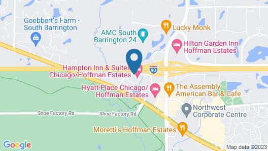 Hampton Inn & Suites Chicago/Hoffman Estates Map