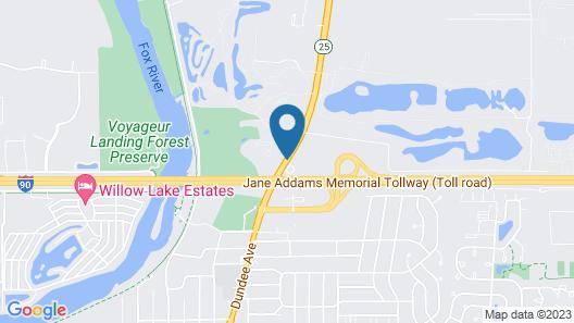 Lexington Inn & Suites NW Chicago Elgin Map