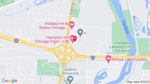 Hampton Inn Chicago Elgin I 90 Map