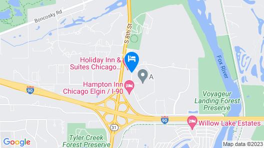 Holiday Inn Chicago Northwest-Elgin Map